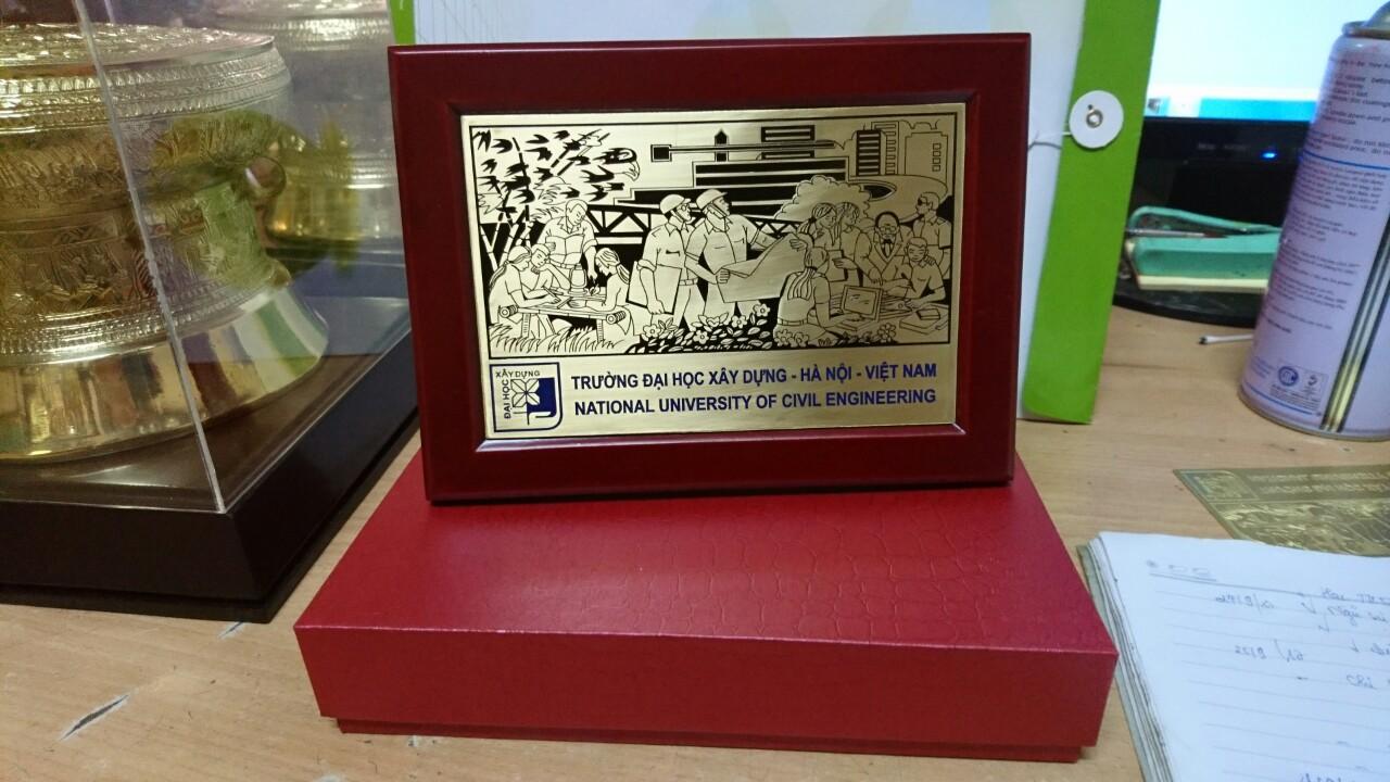 Tranh kỷ niệm trường Đại học xây dựng Hà Nội